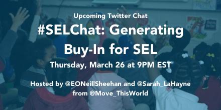 #SELChat Generating Buy In promo